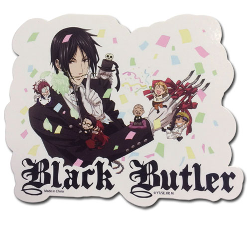 Black Butler - Celebrate Group Sticker, an officially licensed Black Butler product at B.A. Toys.