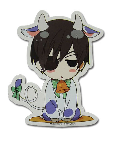 Black Butler - Ciel Cow Sticker, an officially licensed Black Butler product at B.A. Toys.
