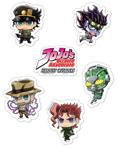 Jojo's Bizarre Adventure - Sd Sticker Set, an officially licensed product in our Jojo'S Bizarre Adventure Stickers department.
