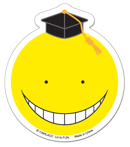 Assassination Classroom - Yellow Koro Sensei Sticker, an officially licensed product in our Assassination Classroom Stickers department.