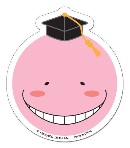 Assassination Classroom - Pink Koro Sensei Sticker, an officially licensed Assassination Classroom product at B.A. Toys.