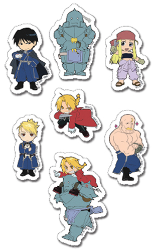 Fullmetal Alchemist - Puffy Sticker Set, an officially licensed product in our Fullmetal Alchemist Stickers department.