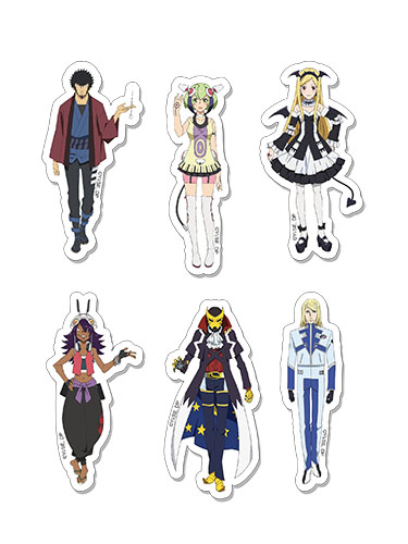 Dimension W - Characters Sticker Set, an officially licensed product in our Dimension W Stickers department.