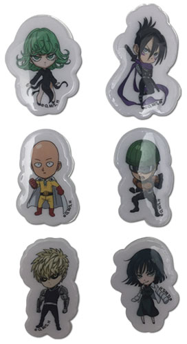 One Punch Man - Sd Group Puffy Sticker Set, an officially licensed product in our One-Punch Man Stickers department.