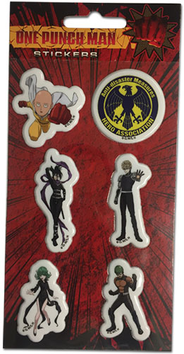 One Punch Man - Group Puffy Sticker Set, an officially licensed product in our One-Punch Man Stickers department.