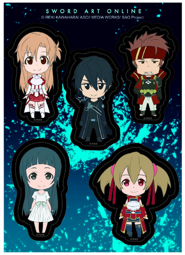 Sword Art Online - Sd Smile Sticker Set, an officially licensed product in our Sword Art Online Stickers department.