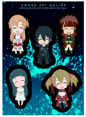 Sword Art Online - Sd Happy Sticker Set, an officially licensed product in our Sword Art Online Stickers department.