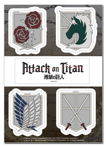 Attack On Titan - Emblems Sticker Set, an officially licensed Attack On Titan product at B.A. Toys.