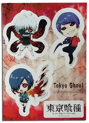 Tokyo Ghoul - Red Eye Sd Sticker Set, an officially licensed product in our Tokyo Ghoul Stickers department.