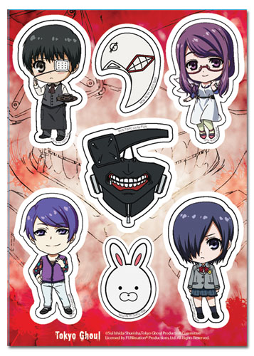 Tokyo Ghoul - Group Sd & Mask Sticker Set, an officially licensed product in our Tokyo Ghoul Stickers department.