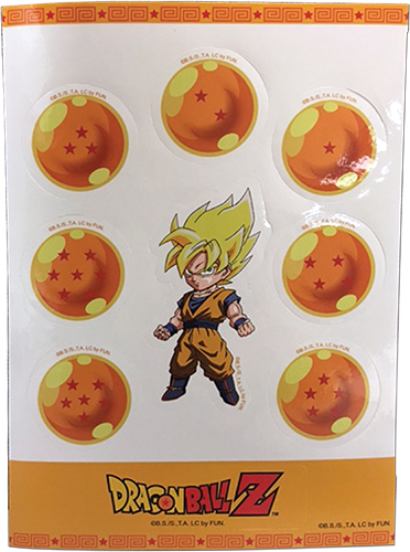 Dragonballs & Goku Ss Sticker Set, an officially licensed product in our Dragon Ball Z Stickers department.
