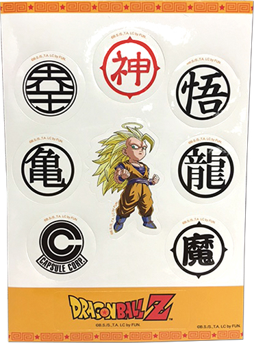 Dragon Ball Z - Symbol & Goku Ss3 Sd Sticker Set, an officially licensed product in our Dragon Ball Z Stickers department.