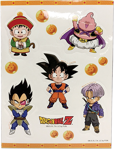 Dragon Ball Z - Group Sd Sticker Set, an officially licensed product in our Dragon Ball Z Stickers department.