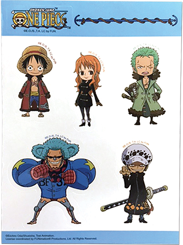 One Piece - Group Sd Sticker Set, an officially licensed product in our One Piece Stickers department.