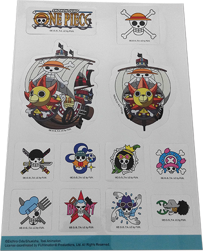 One Piece - Icons & Ship Sticker Set officially licensed One Piece Stickers product at B.A. Toys.