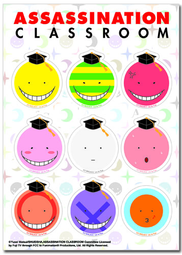 Assassination Classroom - Koro Sticker Set, an officially licensed Assassination Classroom product at B.A. Toys.