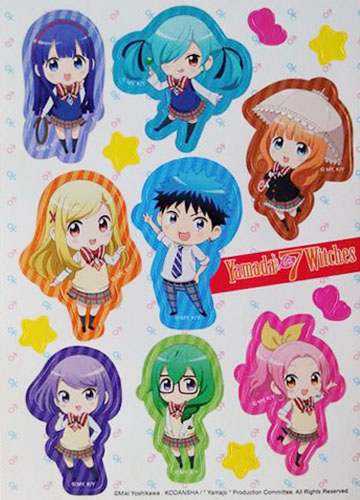 Yamada Kun And The Seven Witches - Group Sticker Set 5''X7'', an officially licensed product in our Yamada-Kun And The Seven Witches Stickers department.