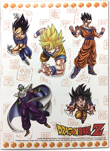 Dragon Ball Z - Special Art Group Sticker Set, an officially licensed product in our Dragon Ball Z Stickers department.