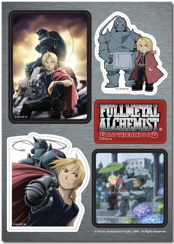 Fullmetal Alchemist Brotherhood - Brotherhood Sticker Set, an officially licensed product in our Fullmetal Alchemist Stickers department.