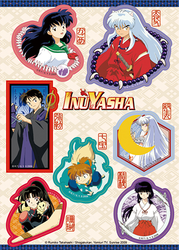 Inuyasha - Characters Sticker Set, an officially licensed product in our Inuyahsa Stickers department.