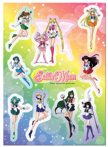 Sailor Moon - Sailor Group Sticker Set, an officially licensed product in our Sailor Moon Stickers department.