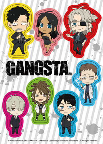 Gangsta - Sd Sticker Set, an officially licensed product in our Gangsta Stickers department.