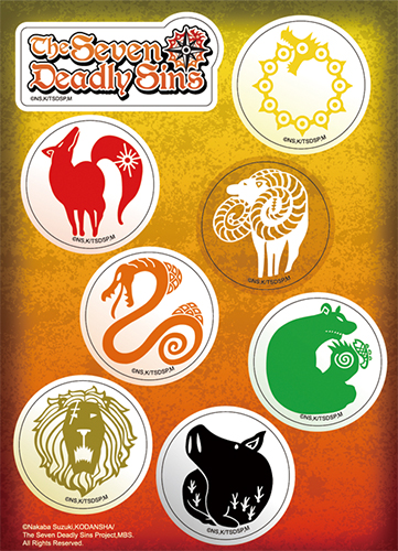 The Seven Deadly Sins - Seven Deadly Sins Logo Sticker Set officially licensed The Seven Deadly Sins Stickers product at B.A. Toys.