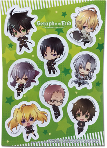 Seraph Of The End - Sd Group Sticker Set, an officially licensed product in our Seraph Of The End Stickers department.