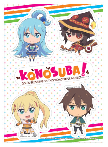 Konosuba - Sd Group Sticker Set, an officially licensed product in our Konosuba Stickers department.