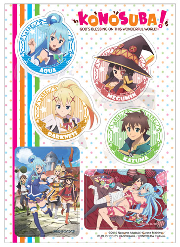 Konosuba - Group Sticker Set, an officially licensed product in our Konosuba Stickers department.