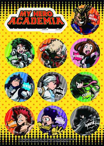 My Hero Academia - Hero Group Sticker Set, an officially licensed product in our My Hero Academia Stickers department.