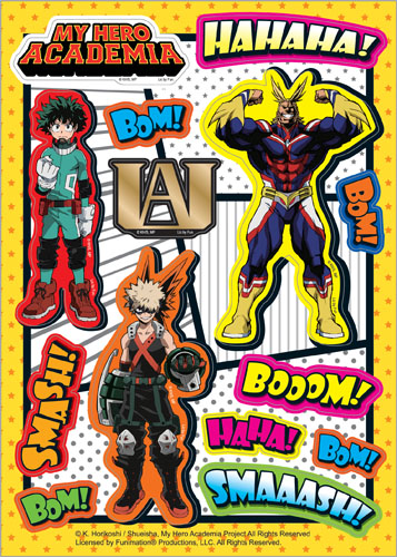My Hero Academia - Onomatopoeia Group Sticker Set, an officially licensed product in our My Hero Academia Stickers department.