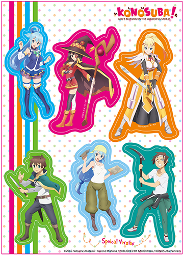 Konosuba - Group 001 Sticker Set, an officially licensed product in our Konosuba Stickers department.