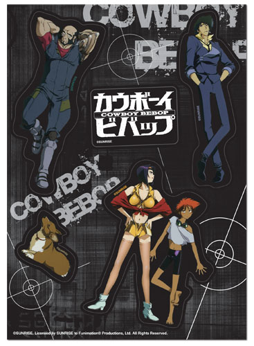 Cowboy Bebop - Spike Group Sticker Set, an officially licensed product in our Cowboy Bebop Stickers department.