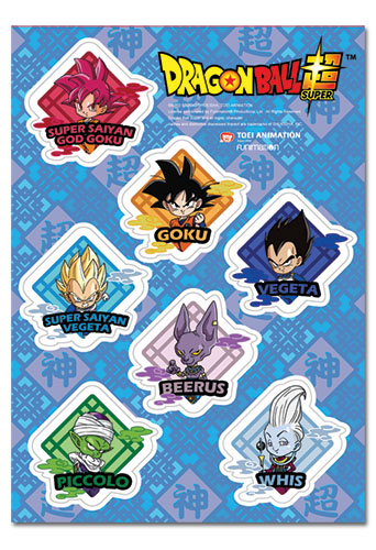 Dragon Ball Super - Sd Diamond Sticker Set, an officially licensed product in our Dragon Ball Super Stickers department.