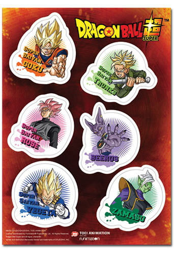 Dragon Ball Super - Future Trunks Saga Sticker Set, an officially licensed product in our Dragon Ball Super Stickers department.