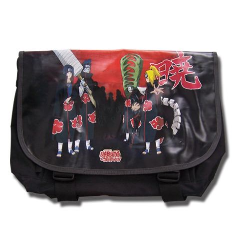Naruto Shippuden Akatsuki Messenger Bag, an officially licensed product in our Naruto Shippuden Bags department.