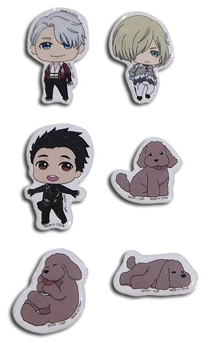 Yuri On Ice!!! - Sd Group Puffy Sticker Set, an officially licensed product in our Yuri!!! On Ice Stickers department.