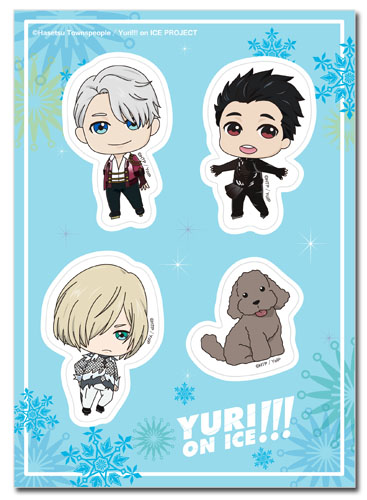Yuri On Ice!!! - Sd Group Sticker Set, an officially licensed product in our Yuri!!! On Ice Stickers department.