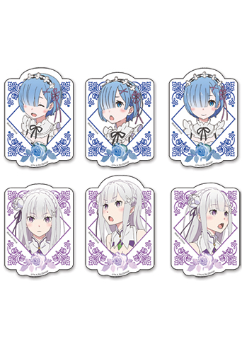 Re:Zero - Rem & Emilia Die-Cut Sticker Set, an officially licensed product in our Re-Zero Stickers department.