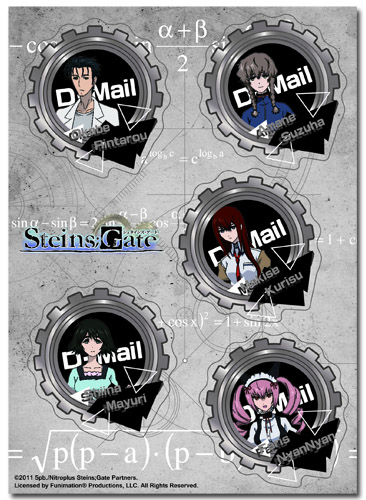 Stein;s Gate - Group Sticker Set officially licensed Stein;S Gate Stickers product at B.A. Toys.