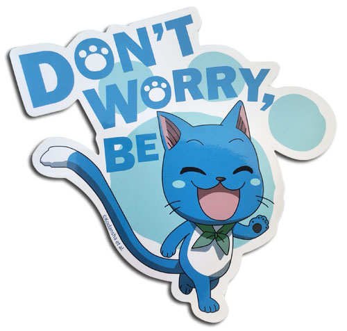 Fairy Tail - Don'T Worry Be Happy Sticker, an officially licensed product in our Fairy Tail Stickers department.