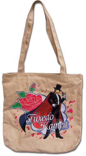 Sailormoon Tuxedo Kamen Tote Bag, an officially licensed product in our Sailor Moon Bags department.