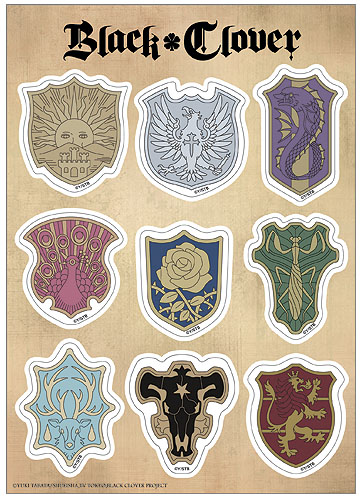 Black Clover - Symbol Sticker Set officially licensed Black Clover Pins & Badges product at B.A. Toys.