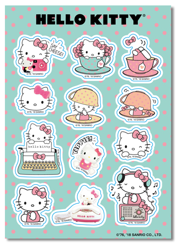 Hello Kitty - Class 2017 Sticker Set, an officially licensed product in our Hello Kitty Stickers department.