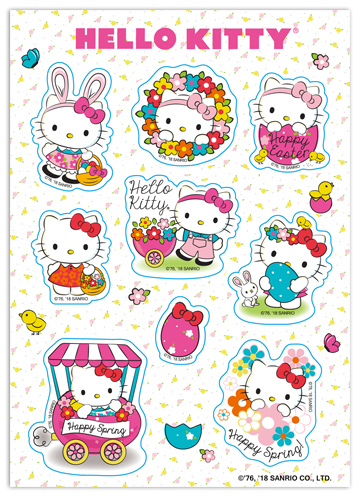 Hello Kitty - Easter 2017 Sticker Set, an officially licensed product in our Hello Kitty Stickers department.