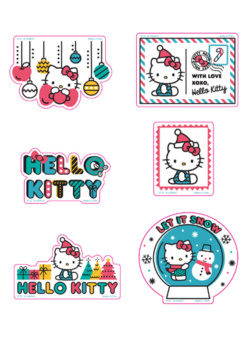 Hello Kitty - Holiday 2018 Die-Cut Sticker Set, an officially licensed product in our Hello Kitty Stickers department.