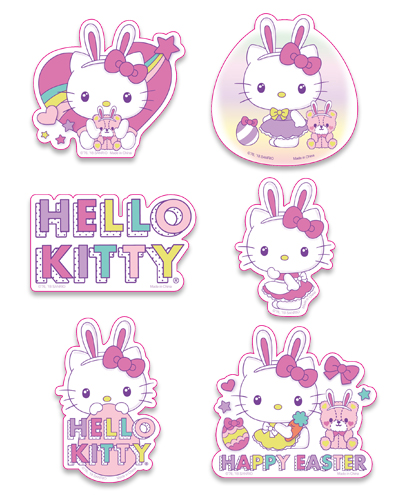 Hello Kitty - Easter 2018 Die-Cut Sticker Set, an officially licensed product in our Hello Kitty Stickers department.