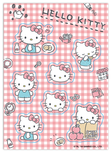 Hello Kitty - 2019 Sticker Set, an officially licensed product in our Hello Kitty Stickers department.