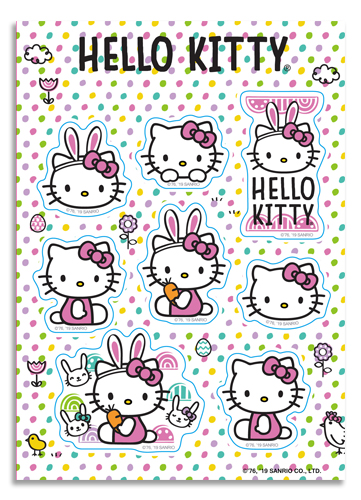 Hello Kitty - 2019 Easter Sticker Set, an officially licensed product in our Hello Kitty Stickers department.